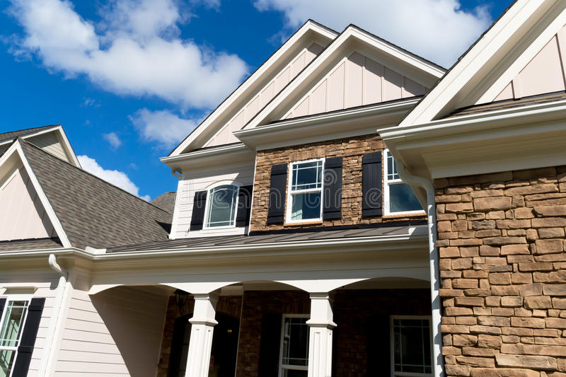 Download Residential house exterior stock image. Image of large - 34310507