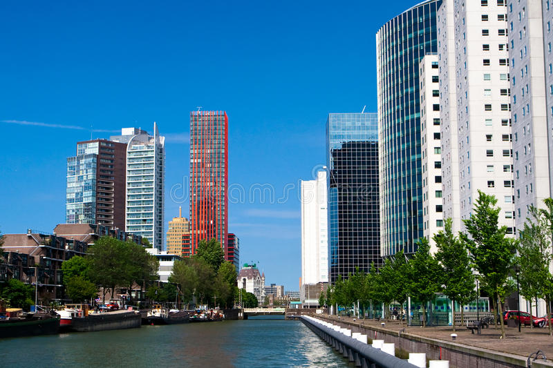 Residential houses. The centre of Rotterdam stock photos