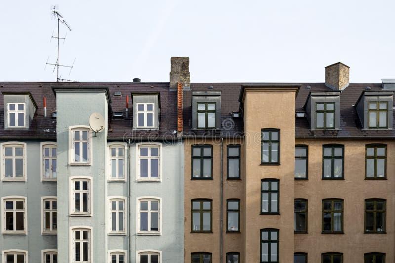 Residential houses in Copenhagen, Denmark royalty free stock photography