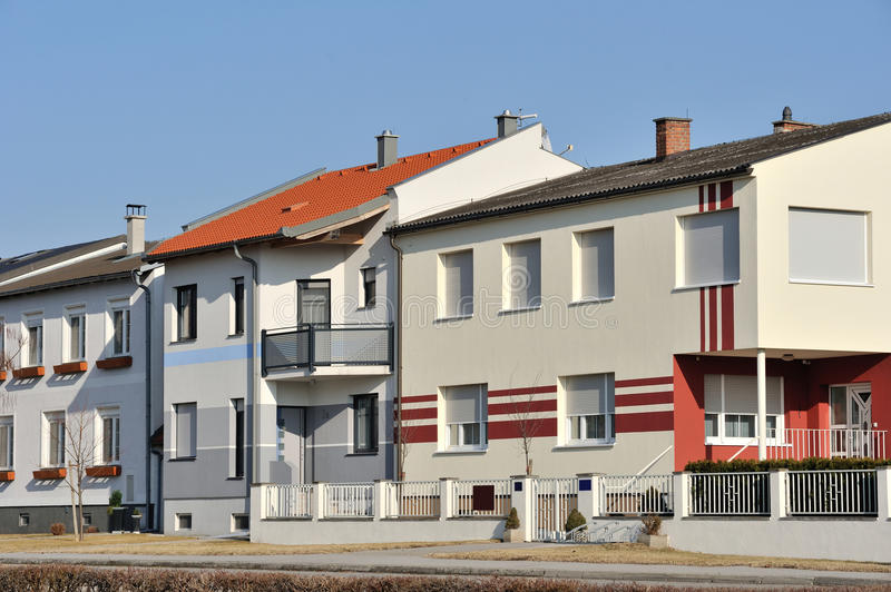 Residential Houses Facade Stock Images