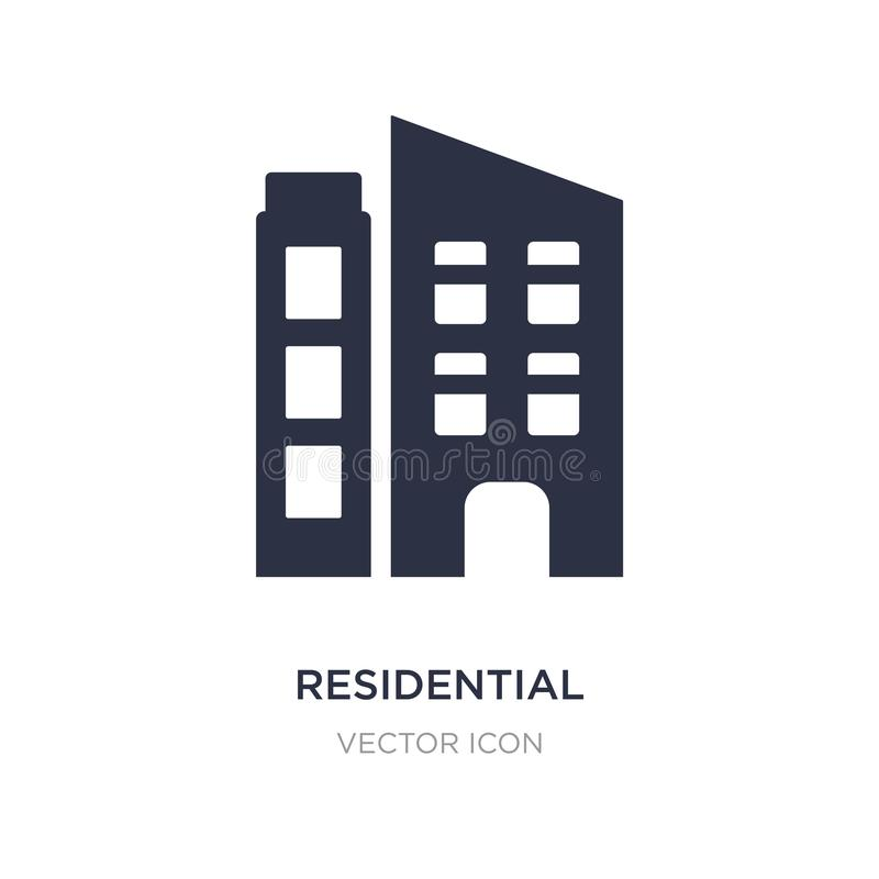 residential icon on white background. Simple element illustration from Future technology concept royalty free illustration