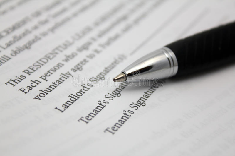 Residential Lease Agreement Royalty Free Stock Image