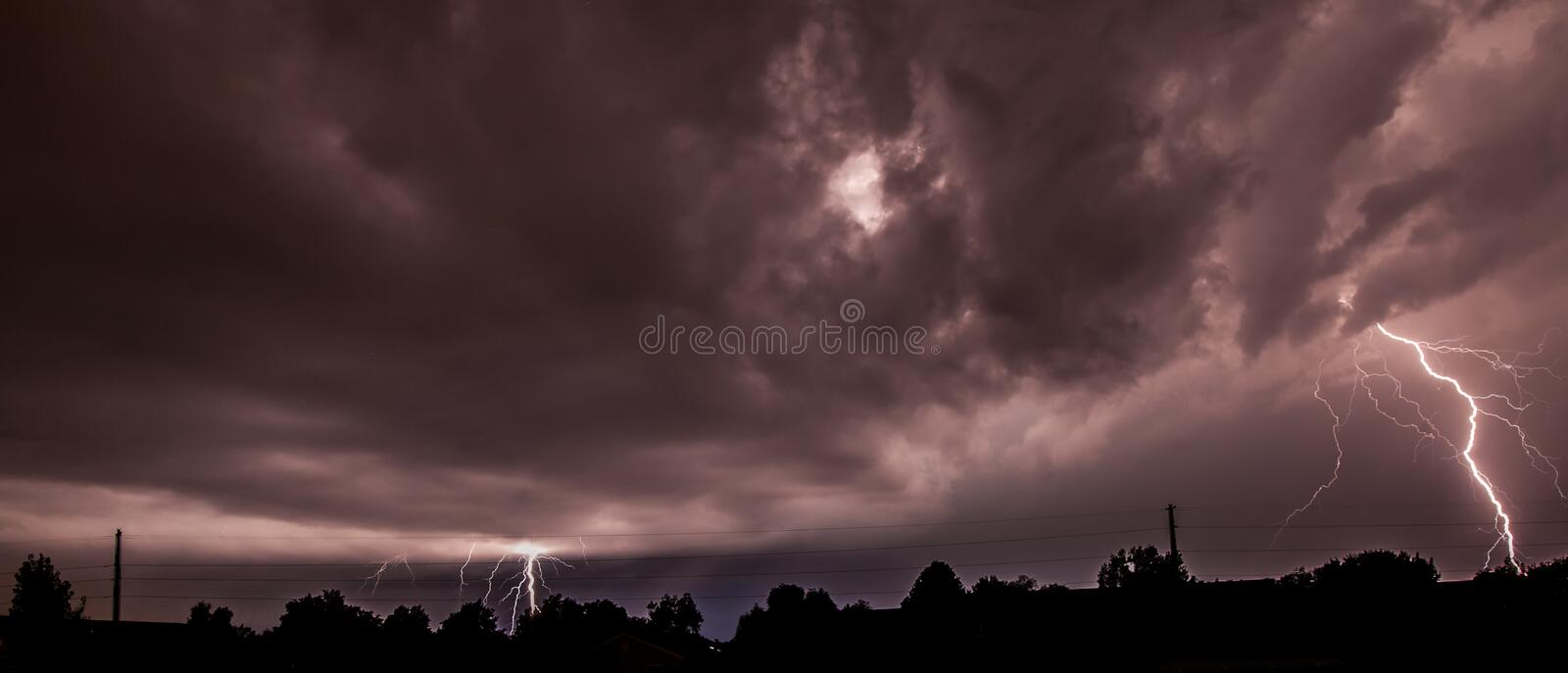 Residential Lightning royalty free stock photography