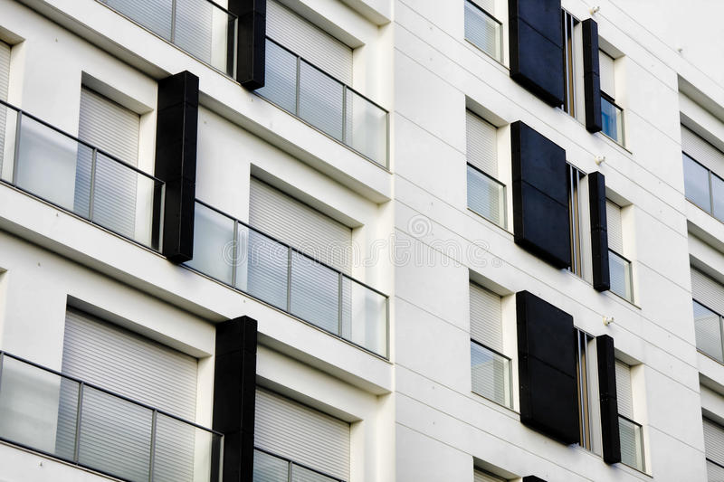 Residential modern apartments stock images