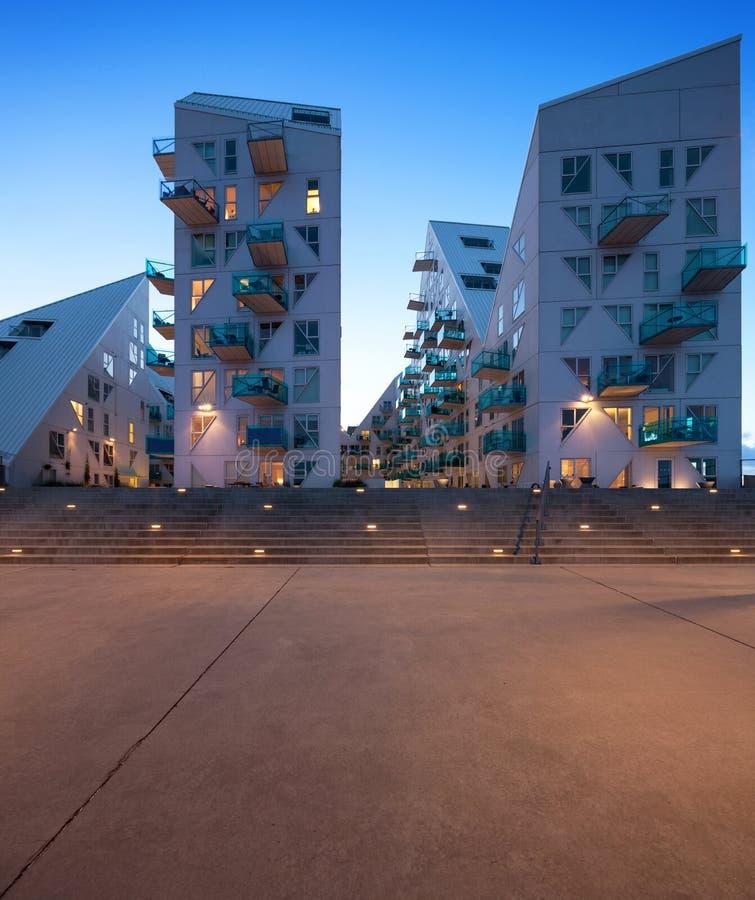 Residential neighborhood at Aarhus in Denmark stock images