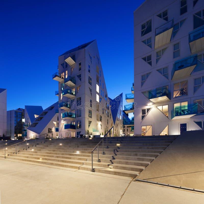 Residential neighborhood at Aarhus in Denmark stock photography