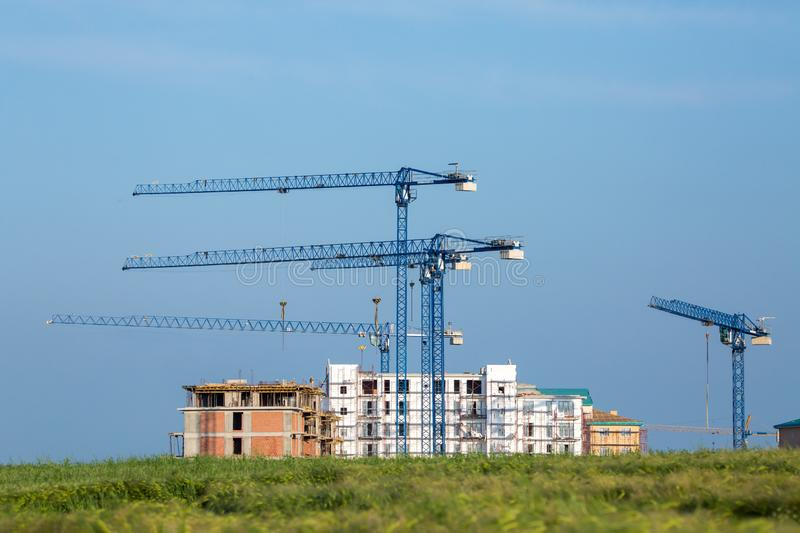 Residential Neighborhood - Construction side royalty free stock image