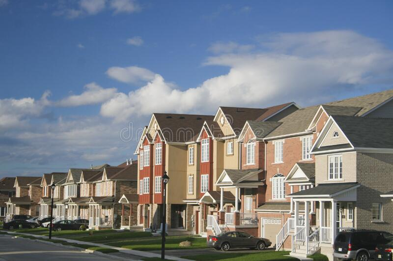 Residential neighborhood royalty free stock photography