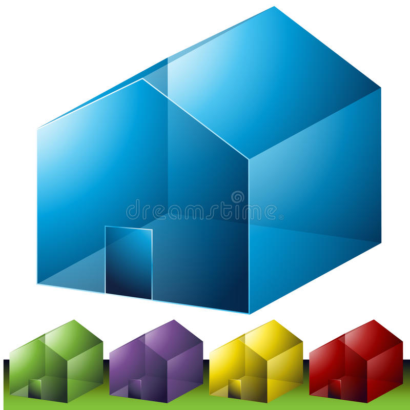 Residential Neighborhood Icons Stock Images
