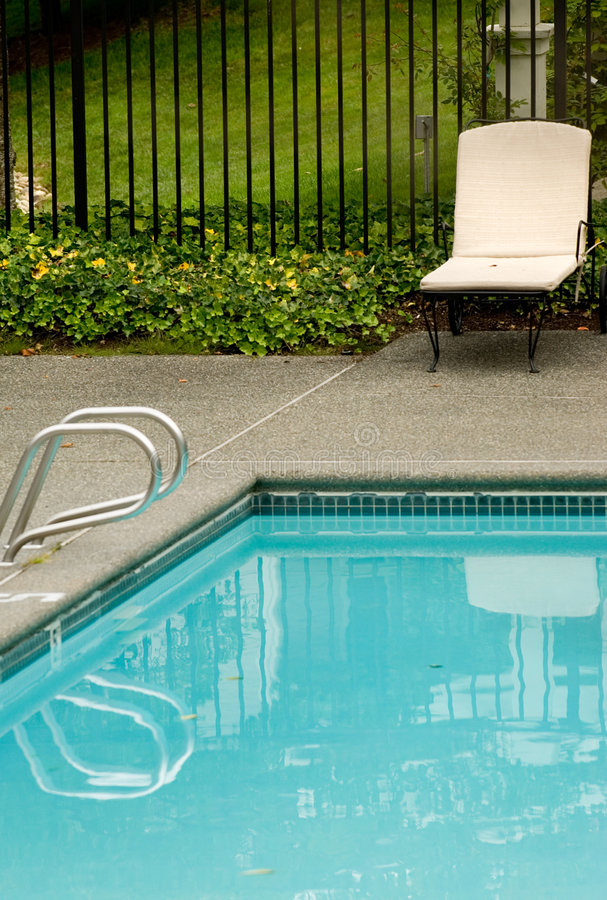 Residential pool stock image
