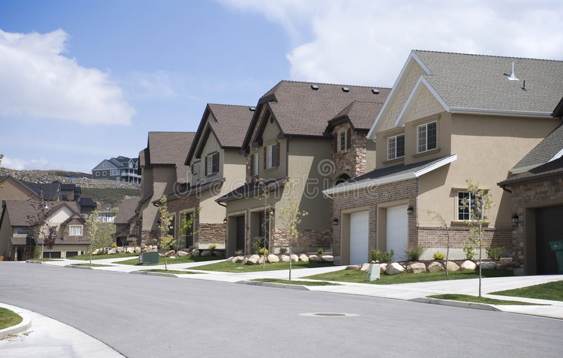 Download Residential Road stock image. Image of development, real - 6437767