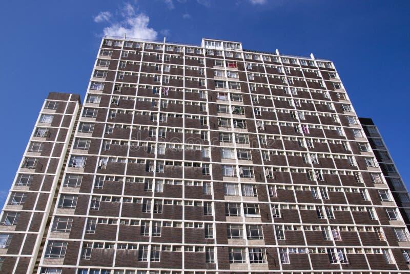 Download Residential Skyscraper Against Deep Blue Sky Stock Photo - Image of brick, rental: 39507726