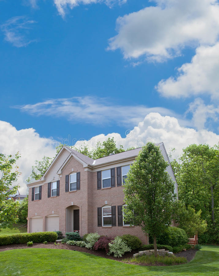 Residential Suburban Home in USA stock photography