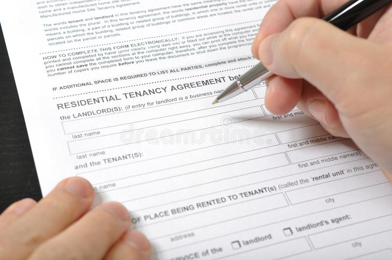 Download Residential Tenancy Agreement Stock Image - Image: 27664093
