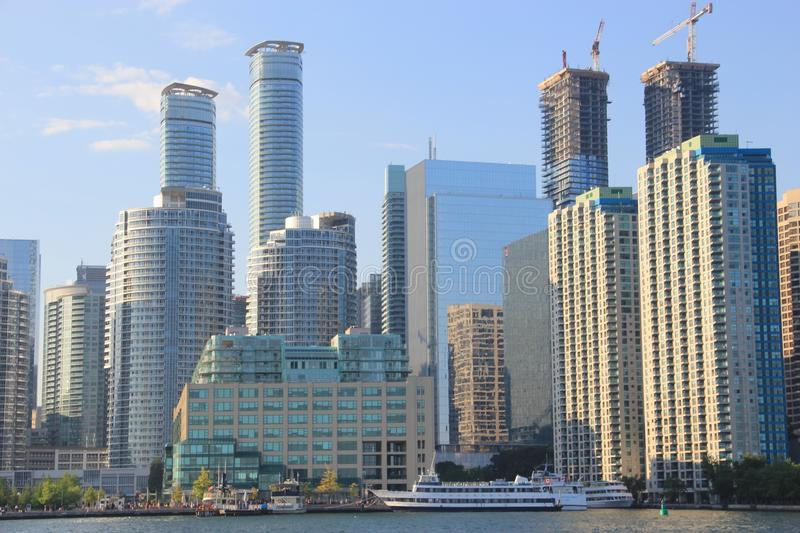 Residential towers in Toronto, Canada royalty free stock photography