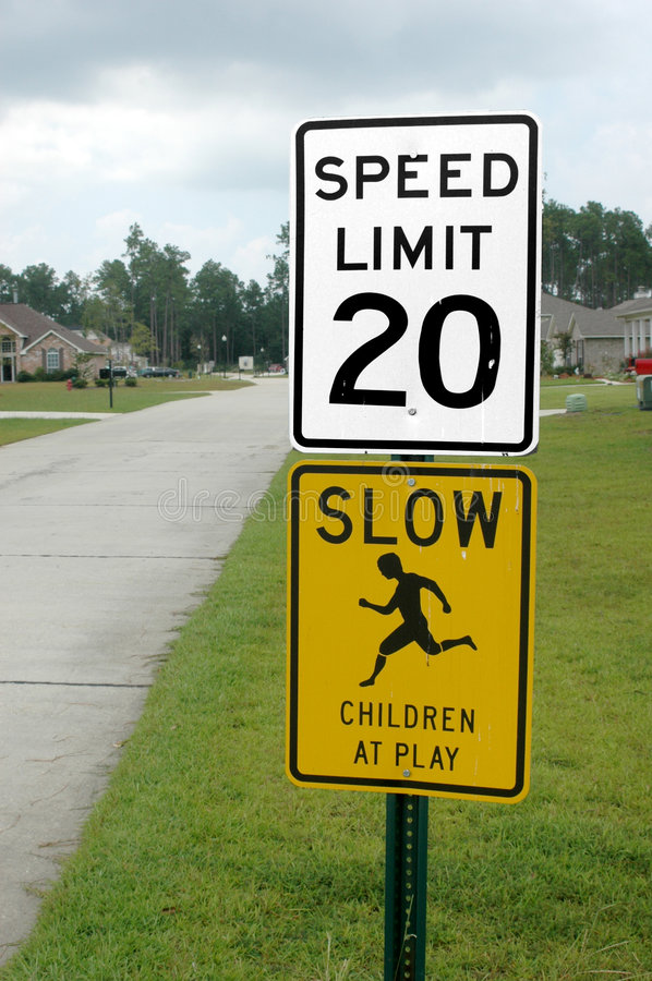 Residential Traffic Signs stock images