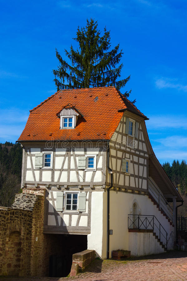 Free Residential Tudor Style House With Blue Sky In Background Stock Photos - 80975233