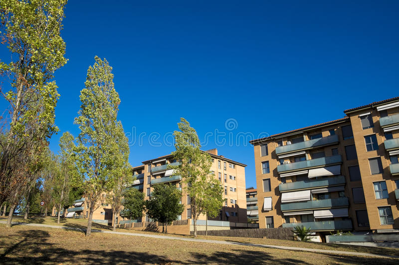 Residential zone in Sant Cugat del Valles in Barcelona. Spain royalty free stock images
