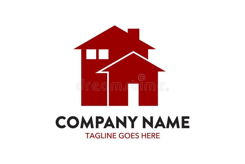 Residentimmobilien-Logoschablone der einzigartigen Hauswohnung lizenzfreie abbildung