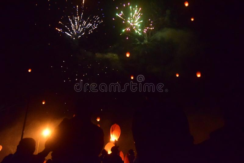 Celebration of the new year in semarang stock photos