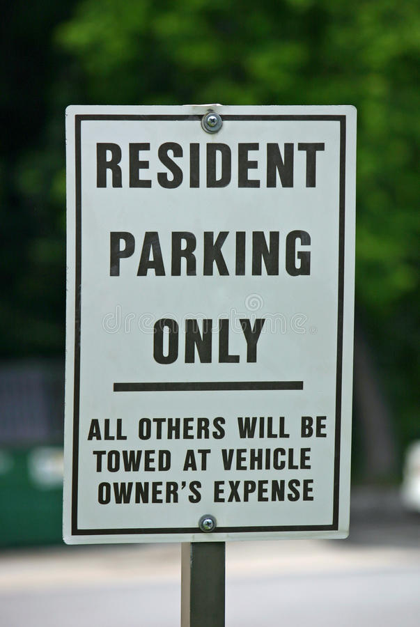 Residents Only Sign stock photography