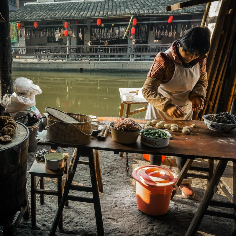 Residents in the south of the Yangtze River are preparing for the Spring Festival royalty free stock photography