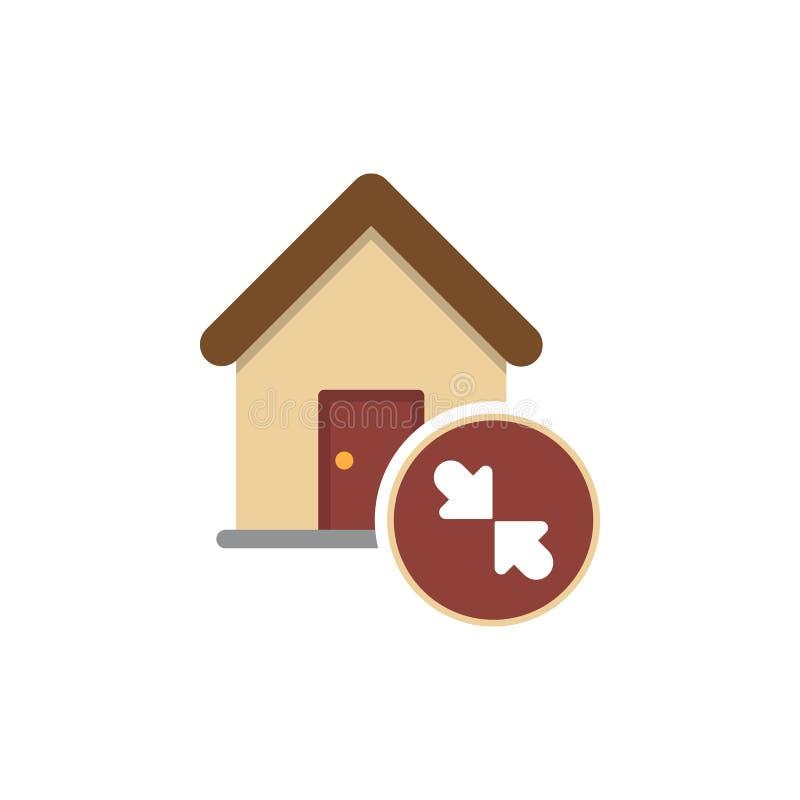 Residenziale - diminuzioni del grafico illustrazione di stock