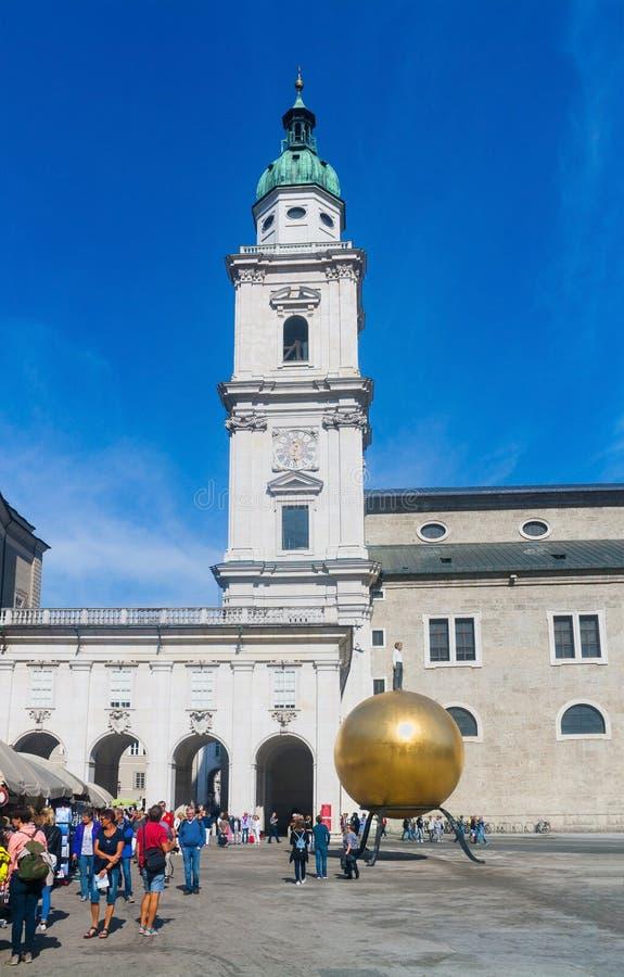 Residenzplatz - główny plac Salzburg, Austria obrazy royalty free
