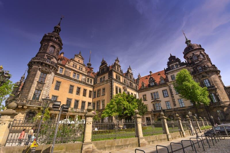 Residenzschloss, het kasteel van Dresden of Koninklijk paleis, Duitsland royalty-vrije stock afbeeldingen