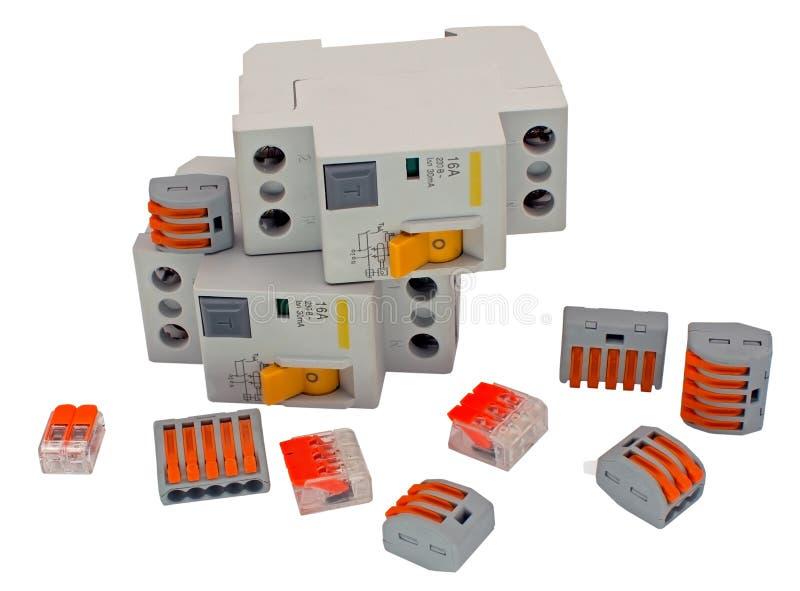 Residueel huidig apparaat en de Compacte Splicing Connectors royalty-vrije stock fotografie