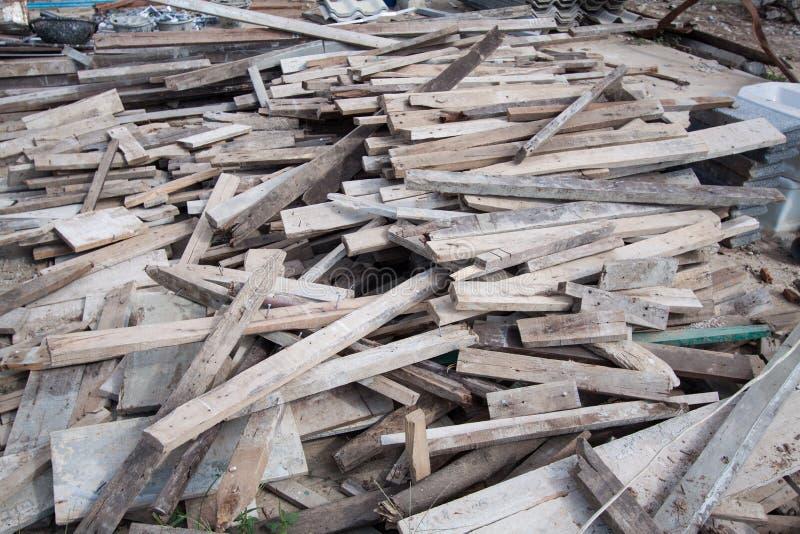 Residuo della lavorazione del legno fotografie stock libere da diritti