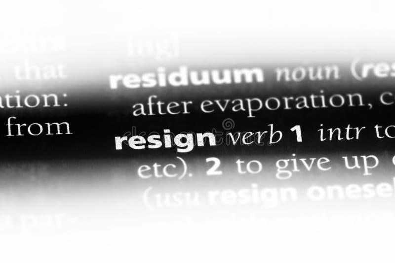 resign royalty-vrije stock afbeeldingen