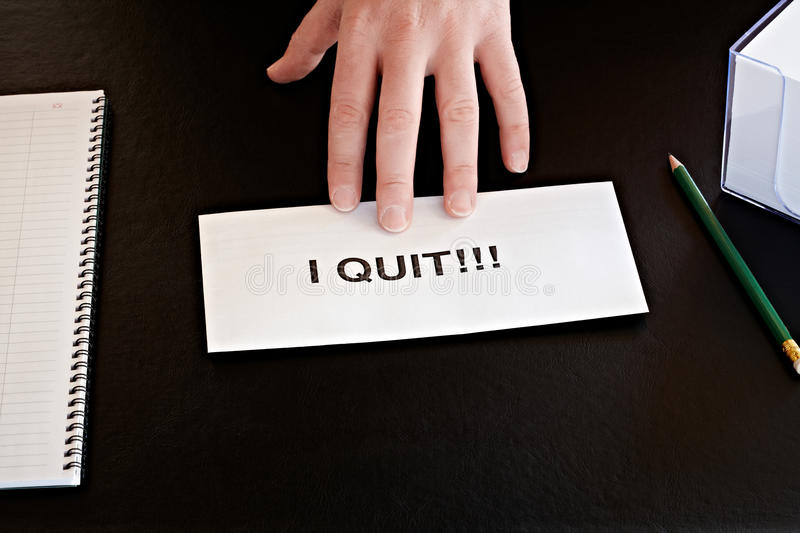 Resignation stock photos