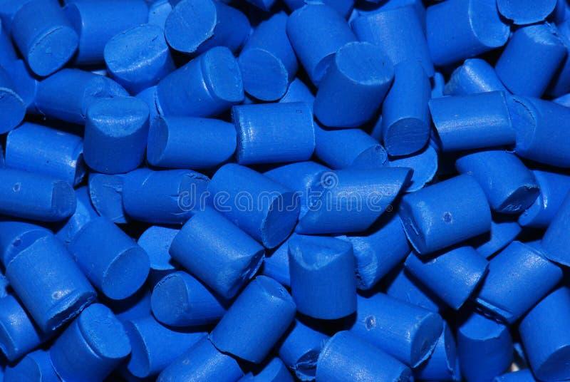 Resina thermoplastic azul imagens de stock royalty free