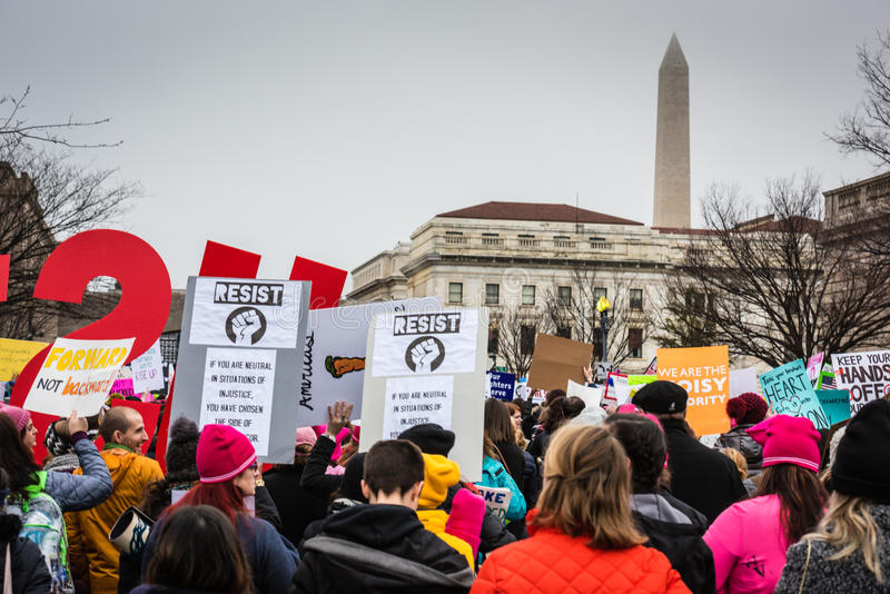 Resist - Womens March - Washington DC royalty free stock photography