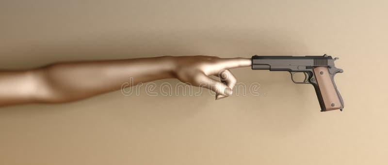 Resista la violencia armada stock de ilustración