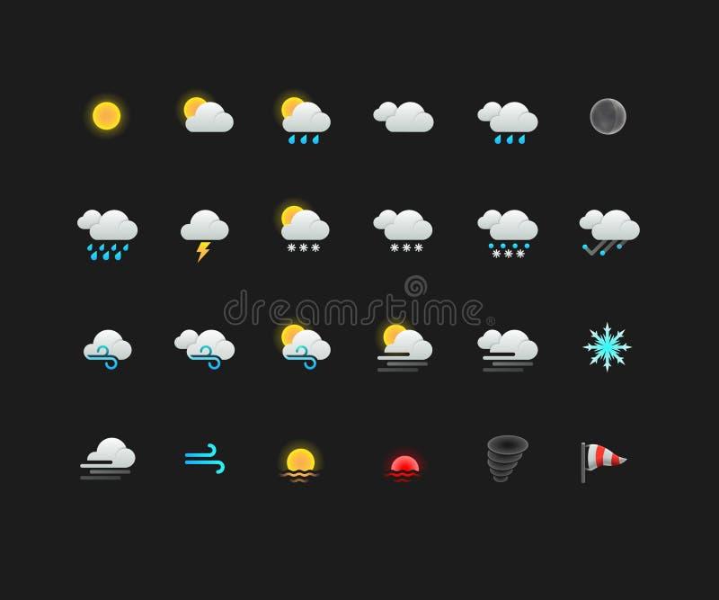 Resista a los iconos coloridos para el web y los apps móviles ilustración del vector
