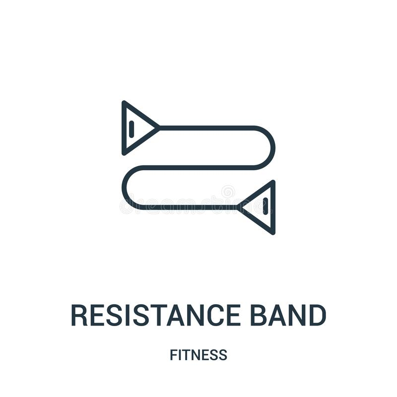 Resistance band icon vector from fitness collection. Thin line resistance band outline icon vector illustration. Linear symbol for. Use on web and mobile apps stock illustration