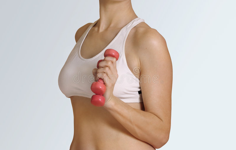 Resistance training. Light weight or resistance training abstract royalty free stock image
