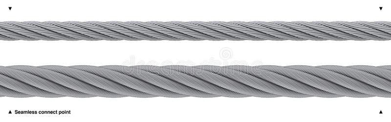 Resistente sem emenda da corda de fio isolado ilustração stock