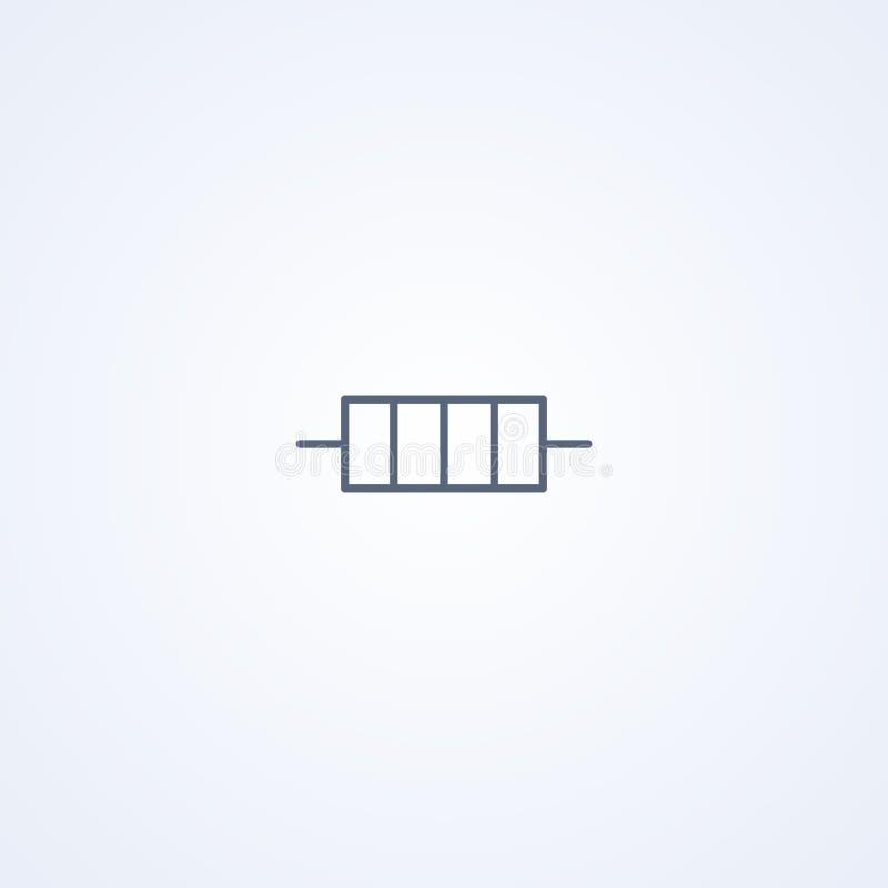 Resistor constante, la mejor línea gris símbolo del vector ilustración del vector