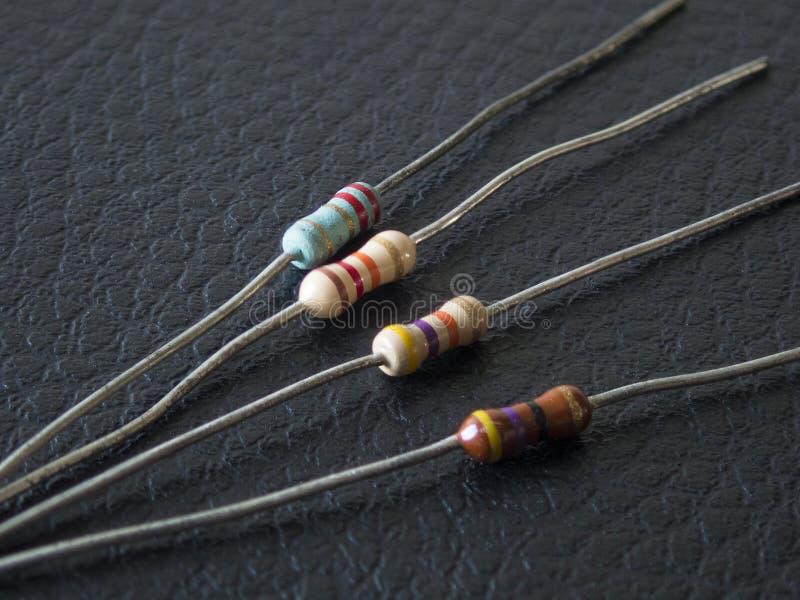 Resistores eletrônicos fotografia de stock
