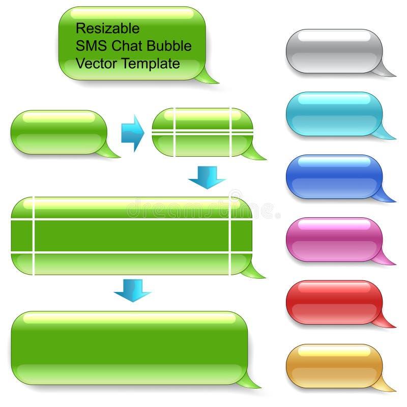 Resizable SMS-pratstundmall royaltyfri illustrationer