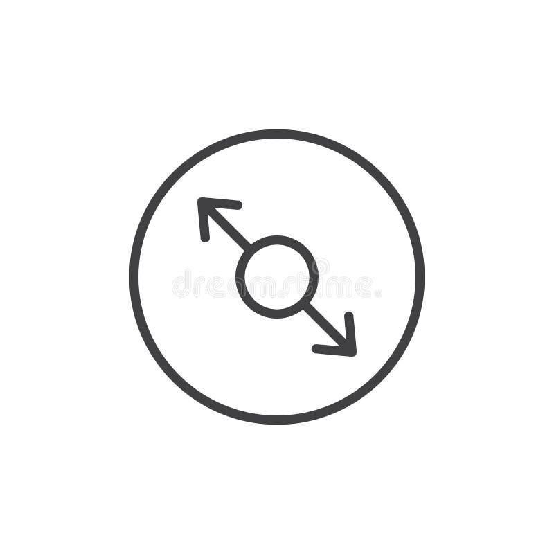 Resize het pictogram van de pijlenlijn vector illustratie