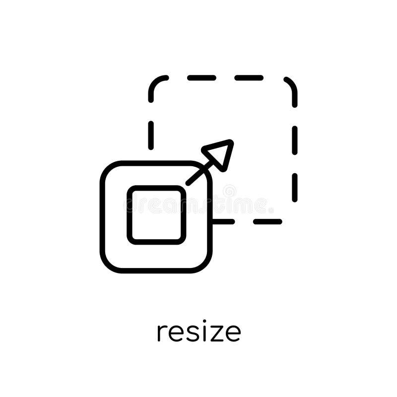 Resize pictogram van inzameling vector illustratie