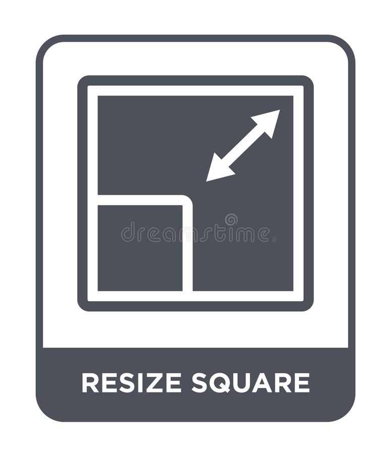 resize square icon in trendy design style. resize square icon isolated on white background. resize square vector icon simple and vector illustration