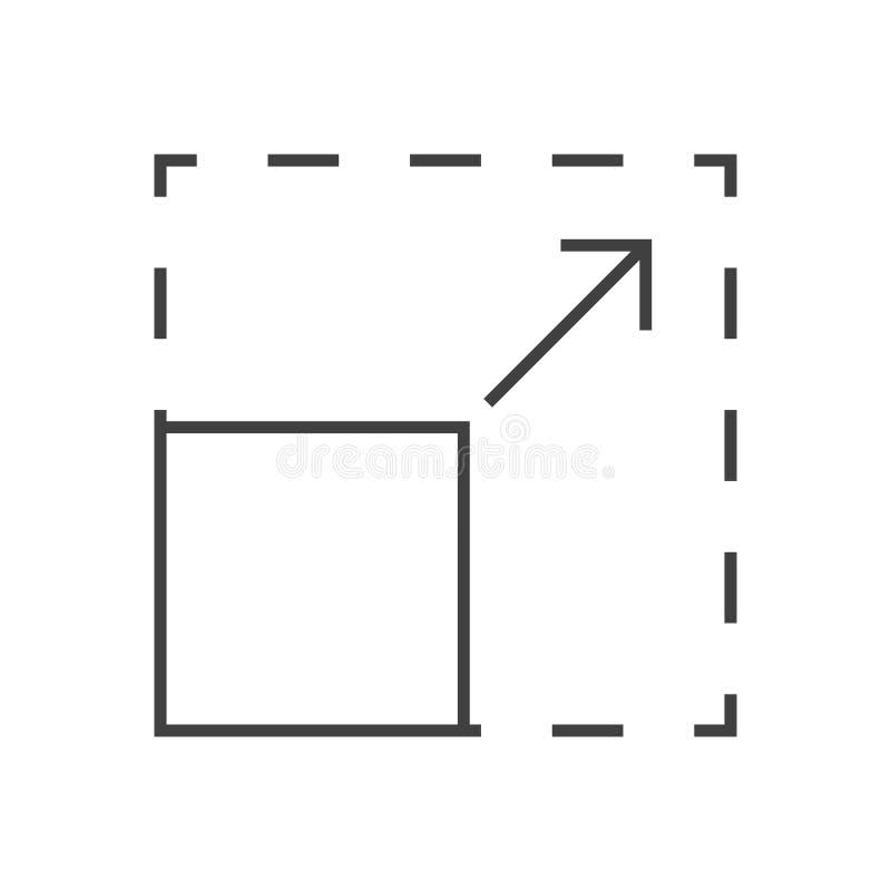 Resize Vectorpictogram royalty-vrije illustratie