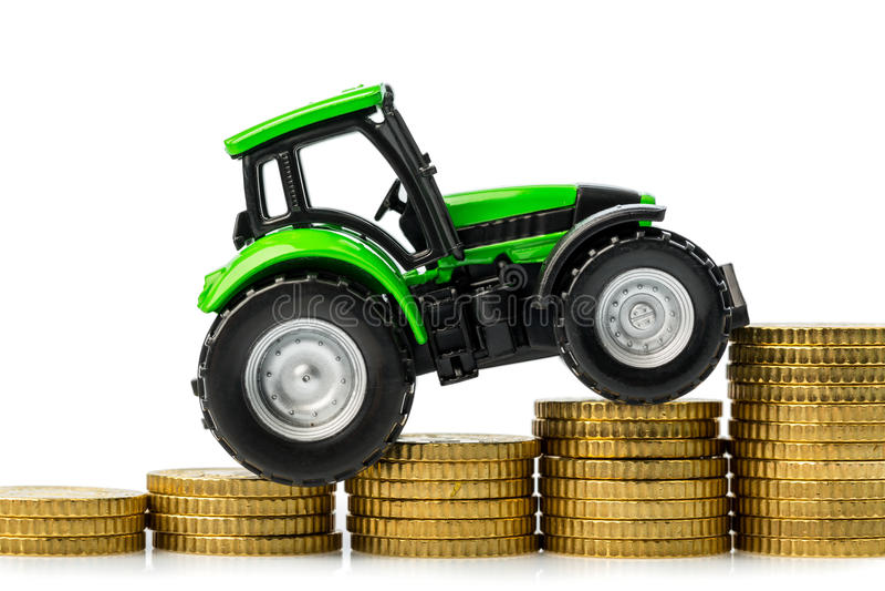 Resningen kostar i jordbruk royaltyfria foton