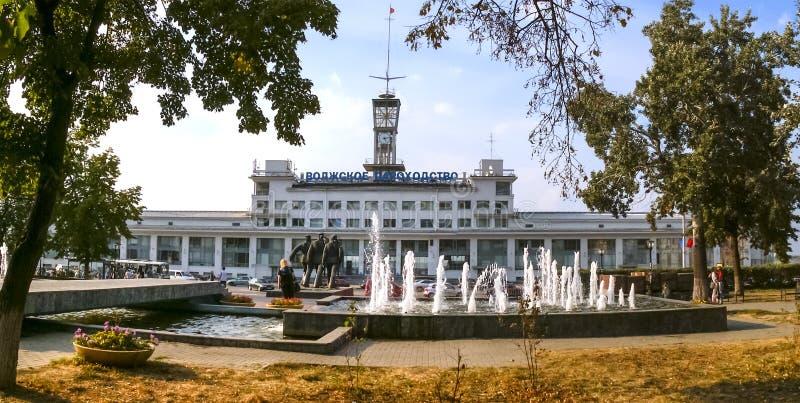Resny-Hafen in Nischni Nowgorod lizenzfreies stockfoto