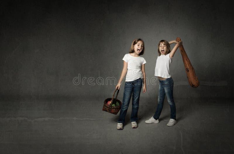 Resolução do conflito das irmãs fotos de stock royalty free